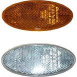 Oval reflector clear